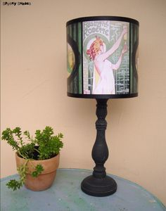 Absinthe Lamp Shade Lampshade  Art Nouveau by SpookyShades on Etsy