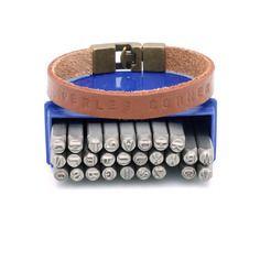Kit de 27 poinçons à frapper métal ou cuir lettre et & pour créations bijoux
