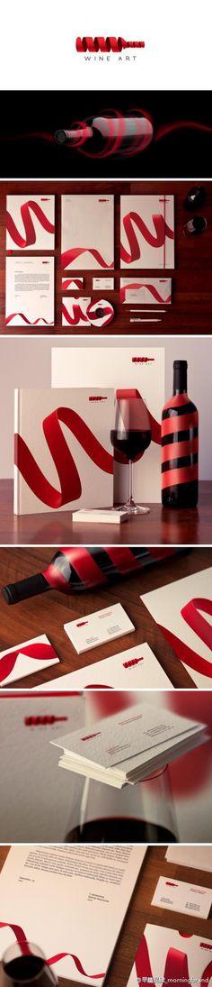 花瓣 Wine art #packaging #branding PD