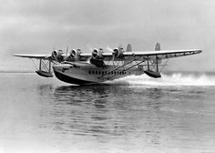 June 18, 1937. Pan Am's S-42B Bermuda Clipper and Britain's Imperial Airways Cavalier simultaneously inaugurated regular service between Bermuda and Port Washington, NY.