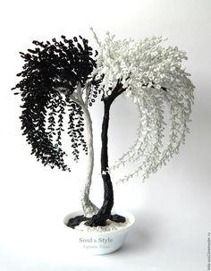 """Деревья ручной работы. Ярмарка Мастеров - ручная работа. Купить Дерево """"Инь-Янь"""". Handmade. Чёрно-белый, украшения для интерьера"""