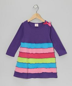 Take a look at this Purple Tiered Dress - Toddler & Girls by S.W.A.K. on #zulily today!