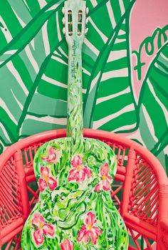 Lilly Pulitzer Store at the Mall at Green Hills in Nashville. Lilly Pulitzer Printed Guitar.