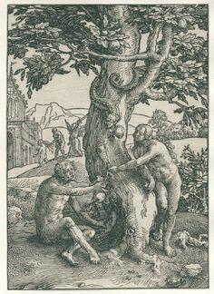 De zondeval, Lucas van Leyden, 1515 - 1519