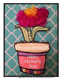 Happy Mother's Day Poem and Craftivity!