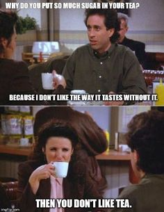 Seinfeld quote - Elaine Jerry are both damaged, 'The Jimmy' You Funny, Funny Kids, Funny Stuff, Funny Things, Seinfeld Elaine, Jerry Seinfeld, Seinfeld Quotes, Seinfeld Meme, Seinfeld Festivus