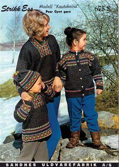 Kautokeino I have knitted this Baby Sweater Knitting Pattern, Knitting Charts, Poncho Sweater, Knitting Patterns, Knitting For Kids, Baby Knitting, Norwegian Knitting, Fair Isle Knitting, Vintage Knitting