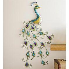 peacock wall art | Home > For the Home > Home Decor > Metal Peacock Wall Art