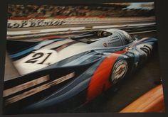 Porsche 917 LH le Mans 1971 exit Pits