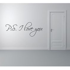 PS I Love You Wall Stickers Vinyl PVC Wall Art Decals for Bedroom Lovers