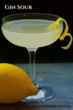 A tart and gin forward cocktail that's easy to make, even easier to make to your liking. Gin Recipes, Gin Cocktail Recipes, Cocktail Bitters, Sour Cocktail, Gin Lemon Cocktail, Fun Cocktails, Recipies, Gin Martini Recipe, Gin Sour Recipe