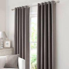 Solar Stone Blackout Eyelet Curtains
