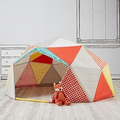 "Lotta Jansdotter "" Buckydome "" for Land Of Nod .. now available on their site .. could I be more excited ? ... nah , not much : I love this thing ! It fits my whole family !!! @thelandofnod"