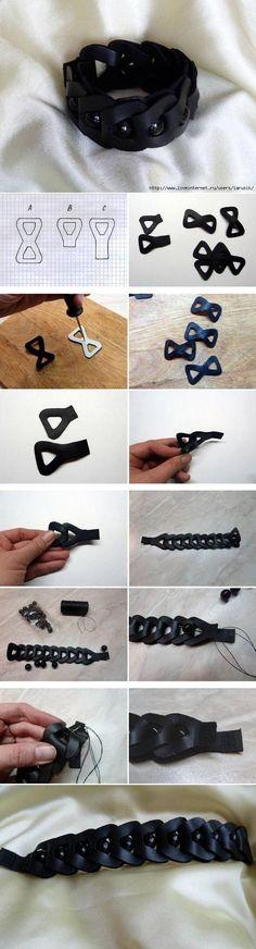DIY Triangular Chain Leather Bracelet DIY Triangular Chain Leather Bracelet