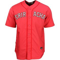 The Sriracha Jersey by BAIT. This sick looking Jersey screams I love Sriracha without being overly gimmicky. Perfect gift for any Sriracha lover without sacrificing style or swag. Visit now to grab this one in either red or white!