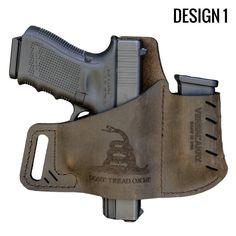 Versacarry® is one of the world's smallest concealed carry holsters. Our ZeroBulk Holster® design fits most guns and is ideal for deep concealment and comfort. Tactical Helmet, Tactical Wear, Tactical Life, Xds 45 Holster, Glock Guns, Custom Holsters, Concealed Carry Holsters, Leather Holster, Leather Working
