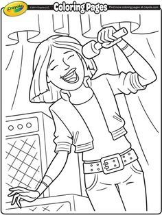 LIBRARIES ROCK! coloring poster libraries rock | Lead Singer Coloring Page | crayola.com