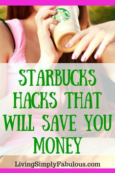 Can't break the coffee habit? Don't worry, here are a few Starbucks hacks that you can use to save money. You can still live frugally and enjoy your favorite cup of espresso. How to save money at Starbucks. Ways To Save Money, Money Tips, Money Saving Tips, How To Make Money, Starbucks Hacks, Frugal Tips, Budgeting Tips, Finance Tips, Money Management