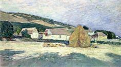Scene at Giverny (also known as Normandy Farm or Farm House and Rick), Oil On Canvas by Theodore Robinson Vermont) Theodore Robinson, Farmhouse Artwork, American Impressionism, National Gallery Of Art, Art And Architecture, American Art, Art Images, Art Museum, Art Reproductions