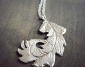 SALE- Feather Necklace Sterling Silver