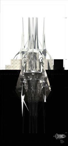 Querschnitt,  Master Entwerfen Studo3 Uni Innsbruck Architektur