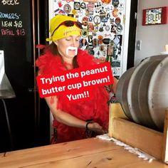 Loving this #firkin! #peanutbuttercup #brown #Saturday #beersamling #hulkhogan #cosprings #Halloween #720media #ColoradoSprings