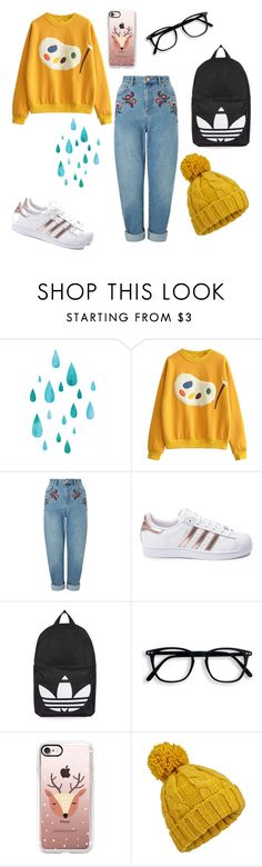 """such a artist"" by marielaznickova on Polyvore featuring Miss Selfridge, adidas, Topshop and Casetify"