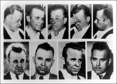 John Dillinger - notorious and vicious thief and killer was the first person to ever have his dead body outlined in chalk.