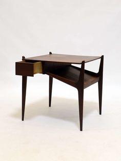 Edmund Spence; Teak and Walnut Side Table, 1950s.