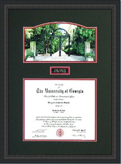 uga diploma frame w panoramic arch option 2