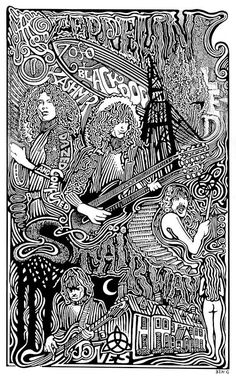 Led Zeppelin Poster, by Posterography ☮ American Hippie Classic Rock Music ~ Psychedelic Art . Rock Posters, Band Posters, Retro Posters, Movie Posters, Rock N Roll, Led Zeppelin Poster, Led Zeppelin Art, Concert Rock, We Will Rock You