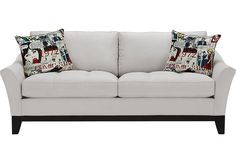 Cindy Crawford Home Newport Cove Platinum Sofa  from  Furniture