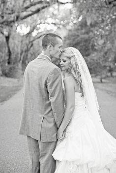Wedding Portrait, forehead kisses are the best