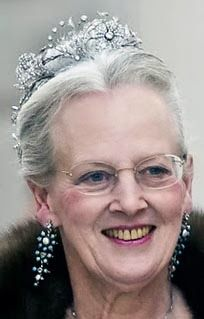 Queen Margrethe in the floral aigrette tiara