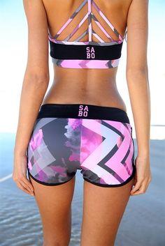 Pink Arrow Shorts | SABO SKIRT www.saboskirt.com