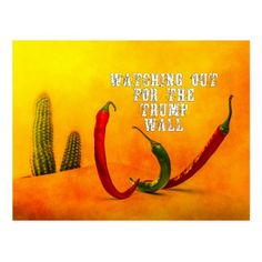 Watching out for the Trump Wall Postcard