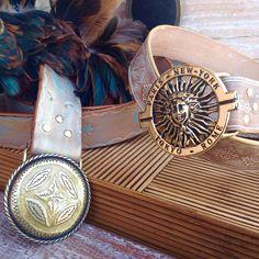 Cinturones estilo boho#piel#echoamano#moda#