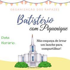 As Tontas Vão Ao Céu: Cartaz - Batistério e Piquenique para ORM e Socied...