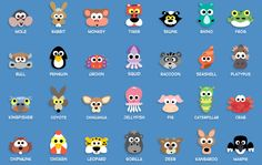 Printable Animal Masks - ideas to use for punch art - bjl