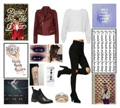 """Panic! At The Disco"" by emo-roxanne ❤ liked on Polyvore featuring Maje, Sans Souci and Allurez"