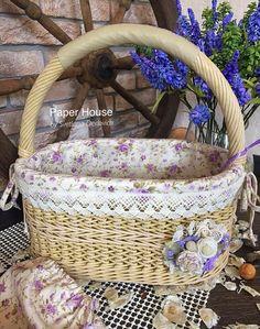 Фотографии Светланы Дедович Baskets On Wall, Wicker Baskets, Gift Baskets, Newspaper Basket, Sewing Baskets, Flower Girl Basket, Paper Houses, Wicker Furniture, Easter Baskets