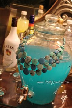 Tiffanys blue alcoholic drink for bachelorette party ideas. Breakfast at Tiffany's theme?