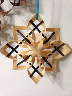 Large Ornamental Handcraft Handcraft Christmas Crafts For Kids To Make, Handmade Christmas Decorations, Diy Christmas Ornaments, Holiday Crafts, Xmas, Paper Snowflakes, Paper Stars, Christmas Snowflakes, Bamboo Weaving