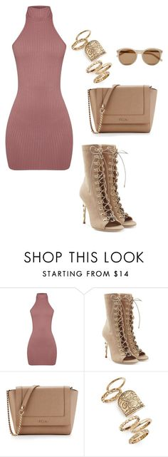 """Untitled #242"" by guls on Polyvore featuring Balmain, Furla, Topshop and Yves Saint Laurent"