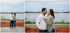 DC Engagement Washington Monument Lady Bird Johnson Park in the Fall