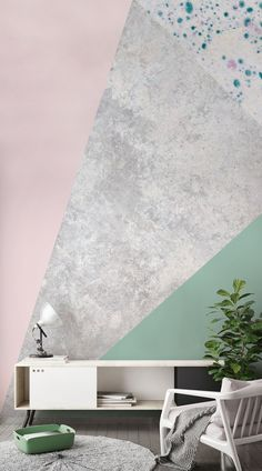 Geometric design is all about mixing simple shapes and curves to achieve mesmerising results. If you like clean lines, flat textures and simple palettes, geometric wallpaper is the ideal solution and will help you. With asymmetry at the heart of these designs, they will bring an edge to your home without compromising on sophistication. #wallpaper #murals #interiordesign #home #interiordecor #accentwall #inspiration #geometric #design