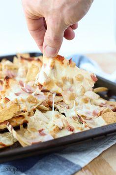 Chicken Cordon Bleu Nachos - The Recipe Rebel