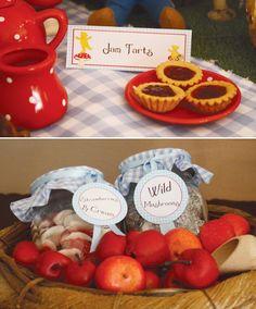 teddy bear picnic birthday party food label printables