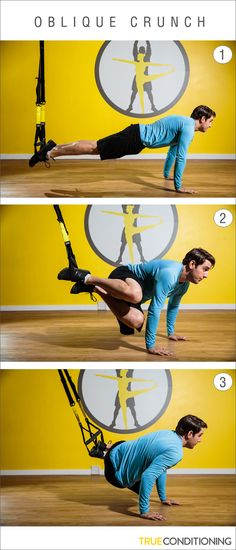 Challenge your core by working your obliques with the TRX Oblique Crunch.