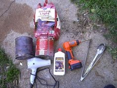 Billede af materialer og værktøjer.